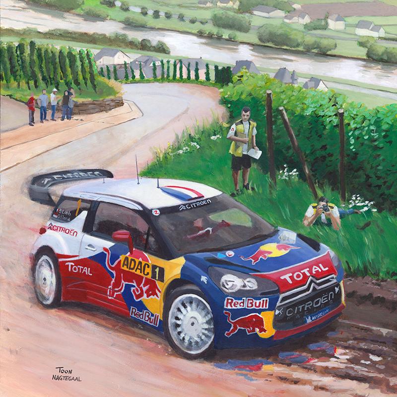 Sebastien Loeb rally schilderij door Toon Nagtegaal