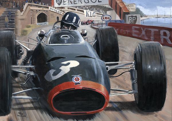 Graham Hill wint de GP van Monaco 1965