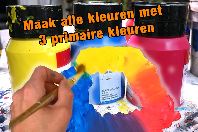 maak alle kleuren met drie primaire kleuren